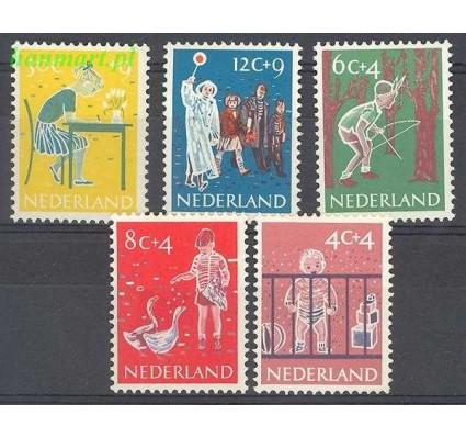 Holandia 1959 Mi 739-743 Z podlepką *