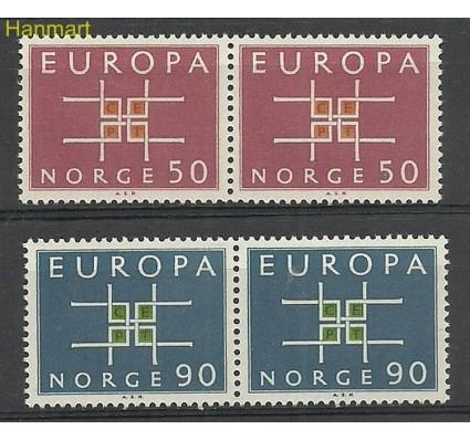 Znaczek Norwegia 1963 Mi 498-499 Czyste **