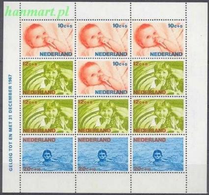 Holandia 1966 Mi bl 5 Czyste **