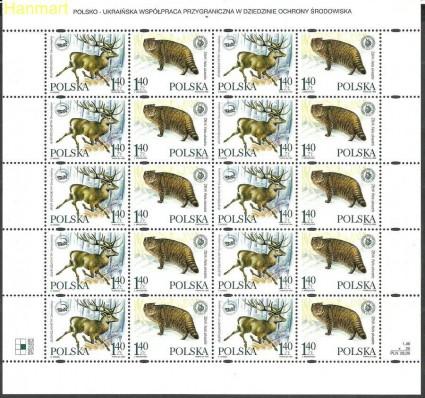 Znaczek Polska 1999 Mi ark 3787-3788 Fi ark 3639-3640 Czyste **
