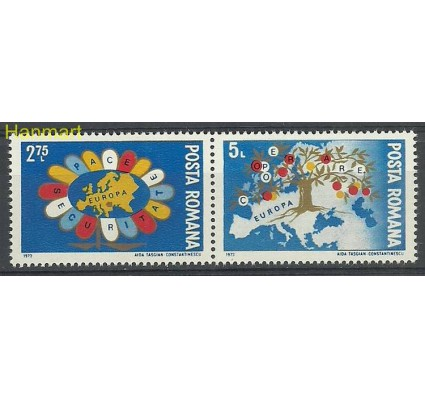 Znaczek Rumunia 1973 Mi 3147-3148 Czyste **