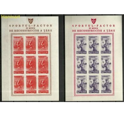 Znaczek Rumunia 1945 Mi ark 879-883 Z podlepką *