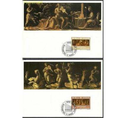 Znaczek Liechtenstein 1985 Mi 866-867 Karta Max