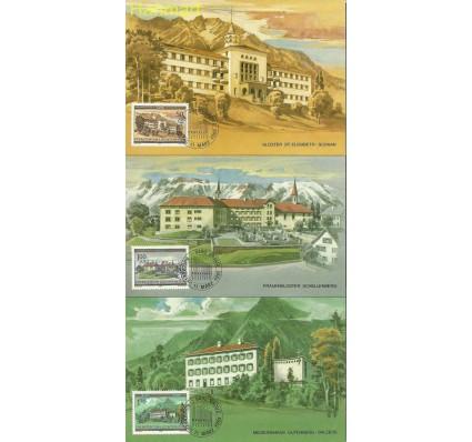 Znaczek Liechtenstein 1985 Mi 868-870 Karta Max
