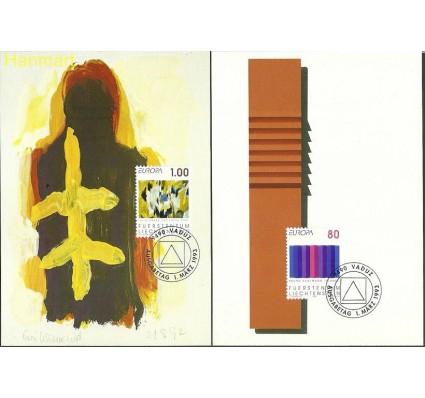 Znaczek Liechtenstein 1993 Mi 1054-1055 Karta Max