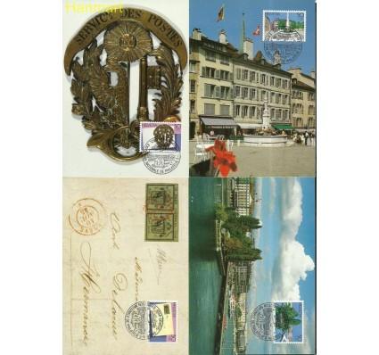 Znaczek Szwajcaria 1990 Mi 1427-1430 Karta Max