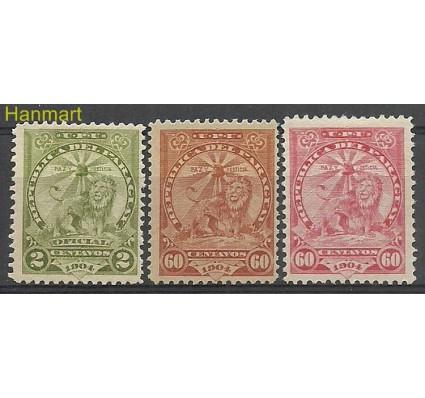 Znaczek Paragwaj 1907 Mi IV-VI Z podlepką *