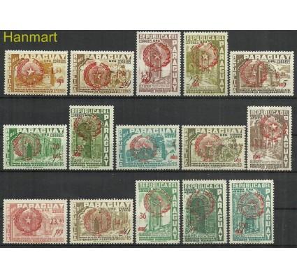 Znaczek Paragwaj 1959 Mi 812-826 Z podlepką *