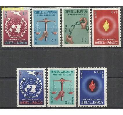 Znaczek Paragwaj 1960 Mi 850-856 Z podlepką *