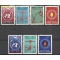 Paragwaj 1960 Mi 850-856 Z podlepką *