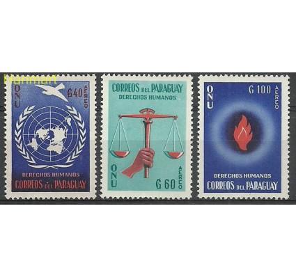 Znaczek Paragwaj 1960 Mi 854-856 Z podlepką *