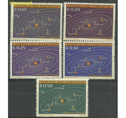 Znaczek Paragwaj 1962 Mi 1134-1138 Z podlepką *