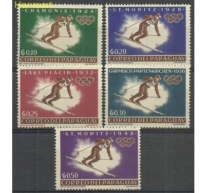 Znaczek Paragwaj 1963 Mi 1192-1196 Z podlepką *