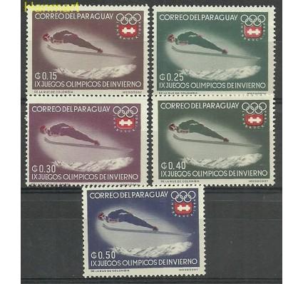 Znaczek Paragwaj 1963 Mi 1249-1253 Z podlepką *