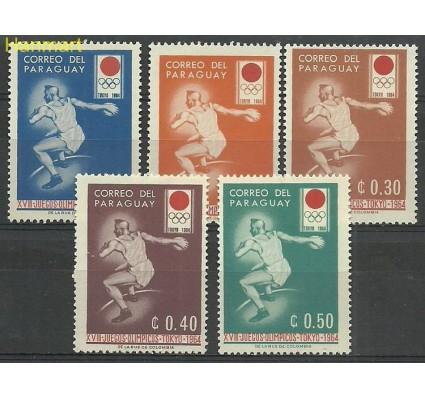 Znaczek Paragwaj 1964 Mi 1265-1269 Z podlepką *