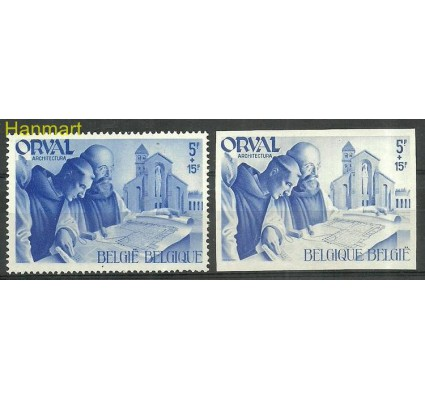Znaczek Belgia 1941 Mi 579-580 Czyste **