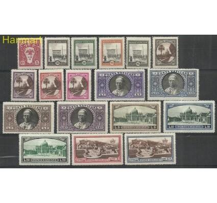 Znaczek Watykan 1933 Mi 21-38 Z podlepką *