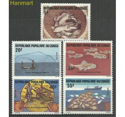Znaczek Kongo 1984 Mi 971-975 Czyste **