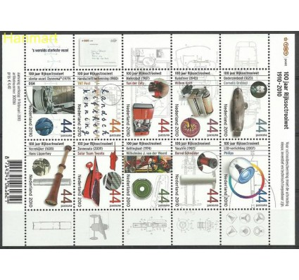 Znaczek Holandia 2010 Mi ark 2726-2735 Czyste **