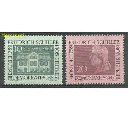 Znaczek NRD / DDR 1959 Mi 733-734 Czyste **