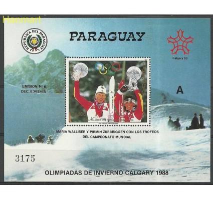 Znaczek Paragwaj 1987 Mi bl446 Czyste **