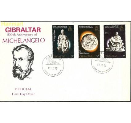 Znaczek Gibraltar 1975 Mi 334-336 FDC