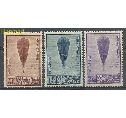 Znaczek Belgia 1932 Mi 344-346 Z podlepką *