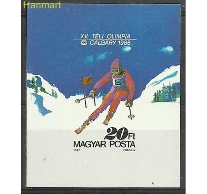 Znaczek Węgry 1987 Mi bl193B Czyste **