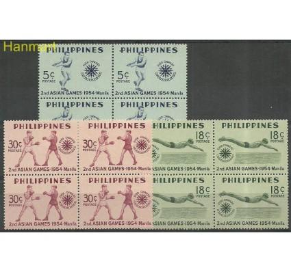 Znaczek Filipiny 1954 Mi 581-583 Czyste **
