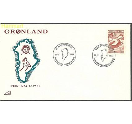Znaczek Grenlandia 1966 Mi 66 FDC