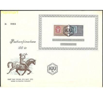 Znaczek Norwegia 1972 Mi bl1 FDC