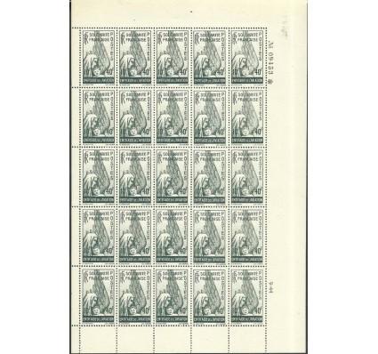 Znaczek Francja 1943 Mi ark aus 8 Czyste **