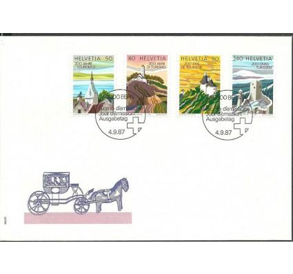 Znaczek Szwajcaria 1987 Mi 1354-1357 FDC