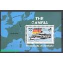 Gambia 1992 Mi bl 155 Czyste **