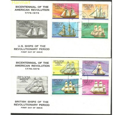 Znaczek Saint Lucia 1976 Mi 372-379 FDC