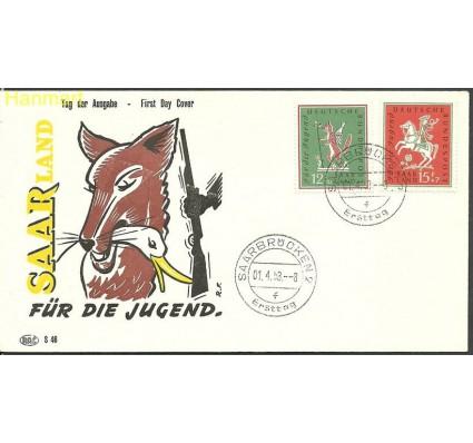Znaczek Saara 1958 Mi 433-434 FDC