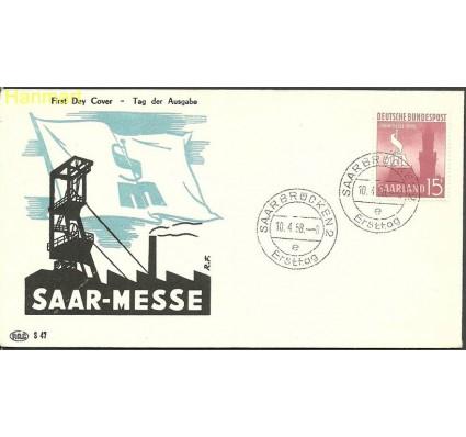 Znaczek Saara 1958 Mi 435 FDC