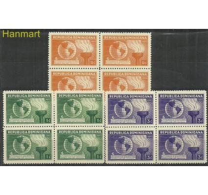 Znaczek Dominikana 1938 Mi 343-345 Z podlepką *