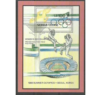 Znaczek Sierra Leone 1988 Mi bl97 Czyste **