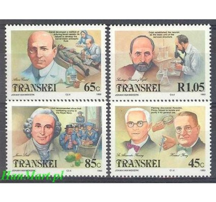 Znaczek Transkei 1993 Mi 307-310 Czyste **