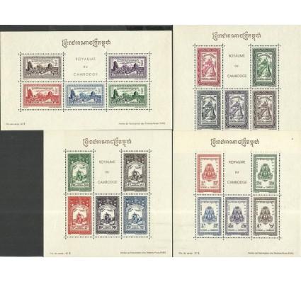 Znaczek Kambodża 1954 Mi bl7-10 Z podlepką *