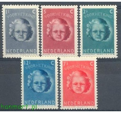 Holandia 1945 Mi 444-448 Czyste **