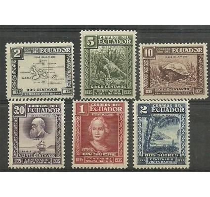Znaczek Ekwador 1936 Mi 346-351 Czyste **