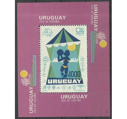 Znaczek Urugwaj 1974 Mi bl 20 Czyste **