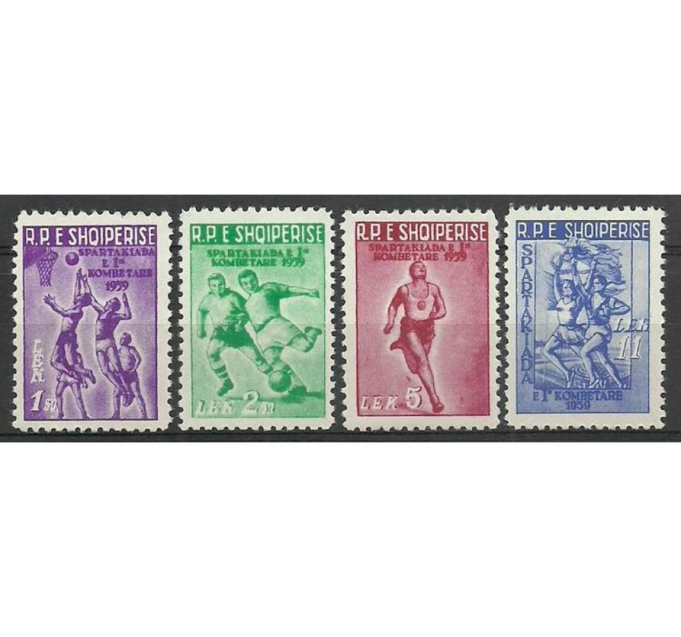 Albania 1959 Mi 578-581 Czyste **