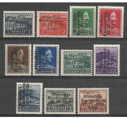 Znaczek Albania 1939 Mi 284-294 Czyste **