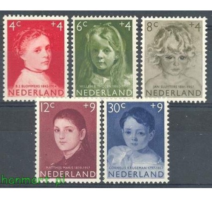 Holandia 1957 Mi 707-711 Czyste **