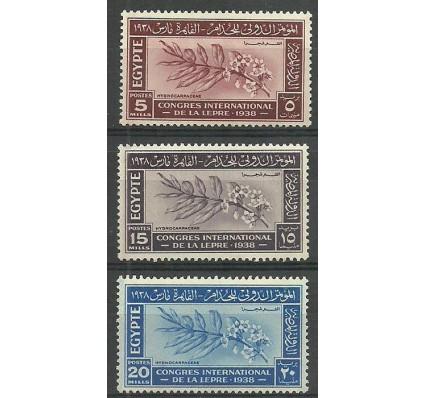 Znaczek Egipt 1938 Mi 248-250 Czyste **