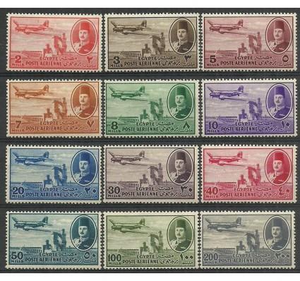Znaczek Egipt 1947 Mi 305-316 Czyste **