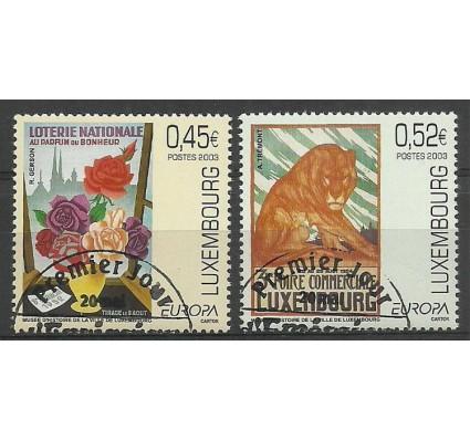 Znaczek Luksemburg 2003 Mi 1607-1608 Stemplowane